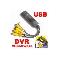 کارت DVR چهار کانال تصویر با یک صدا با پورت usb با قابلیت اتصال به لپ تاپ و PC برای ضبط تصاویر دوربین،فریم25، بدون قابلیت انتقال تصویر★مدل39★